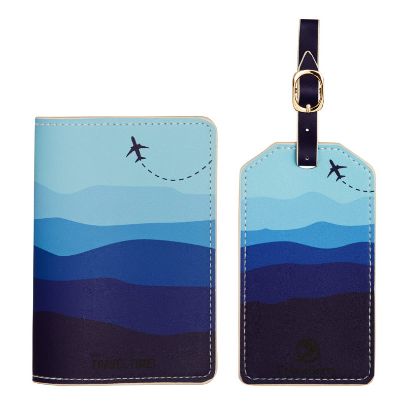 sky and sea passport cover and luggage tag